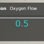 Intervention oxygen flow dialog