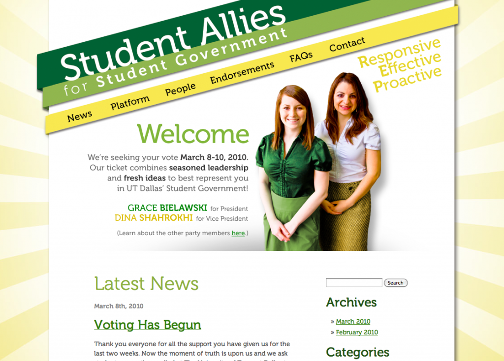 Student Allies campaign website
