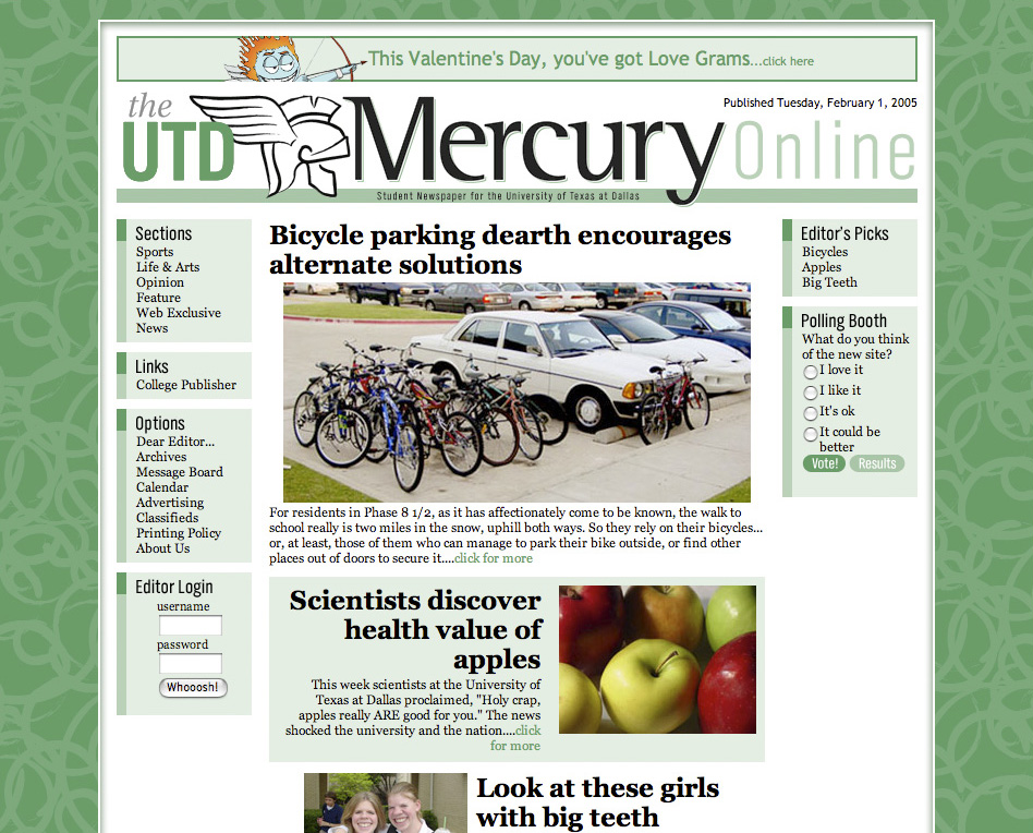 UTD Mercury website